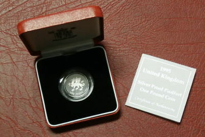 1995 Piedfort Silver Proof £1 Coin , One Pound (5)