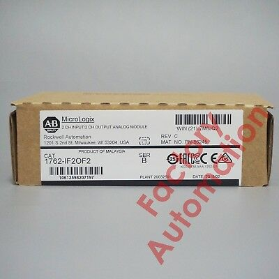 2017-2018 New Allen-Bradley MicroLogix 4Point Analog Comb Module 1762-IF2OF2