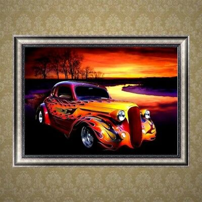 5D Diamond Embroidery Car Design Painting Painting Cross Stitch Home Decor DIY
