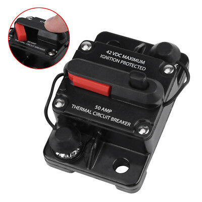 DC12V-42V 50A-300A Car Stereo Audio Inline Reset Circuit Breaker Manual Reset GL