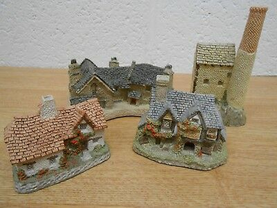 4x David Winter Cottages - minature - Cornish, Sussex, Tin Mine, Beer House