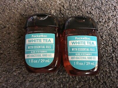 Bath & Body Works 2x Anti-Bacterial Hand Gel White Tea Aloe & Vitamin E