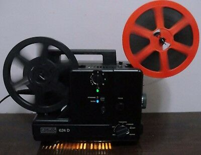 EUMIG 624D Standard 8mm / Super 8 Multi Speed Movie Projector ~Serviced~