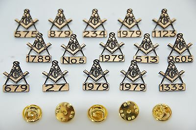 Buy 1 Get 1 Free Masonic Personalised Lapel Badge With Any Lodge Number You Wish