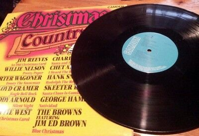 Christmas Country Lp! Compilation! Vinyl Record! Cds 1189! Charity!