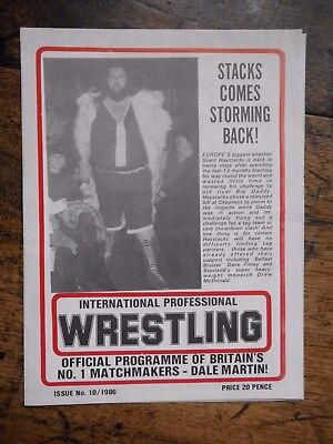 Wrestling Programme,  Giant Haystacks  Bridlington 1986