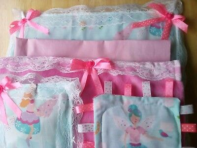 Doll's five piece bedding set suitable for Large Dolls pram or cot brand-new