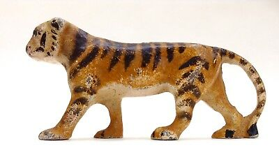 Antique Cold Painted Metal Tiger
