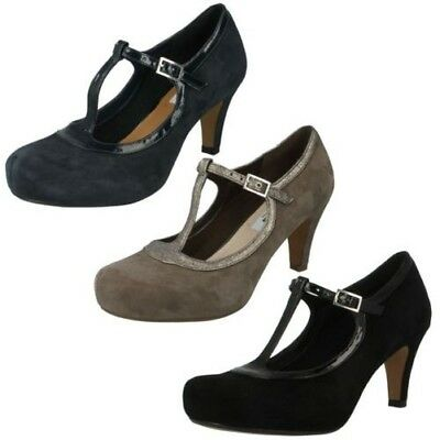 Ladies Clarks T-Bar Court Shoes The Style - Chorus Thrill
