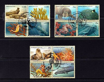 United Nations 2008 Endangered Species Set of 12 Used