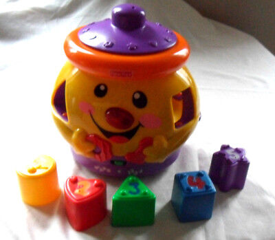 Fisher Price Laugh & Learn Musical Lights Cookie Jar Shape Sorter 3-36 Months