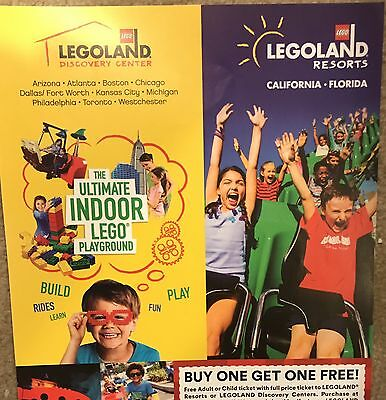 Legoland California Florida Discovery Buy one, get one Coupon EXP 12/31/2017