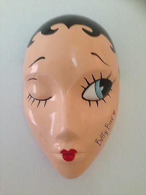 Hand cast wall hanging mask Betty Boop design