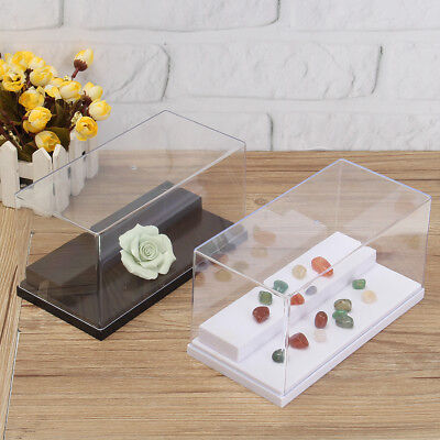 20cm Box Perspex 2 Steps Case Plastic Base Dustproof Acrylic Display Stand New