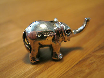 An Incredibly Sweet Sterling Silver Miniature Baby Elephant Statue Figure