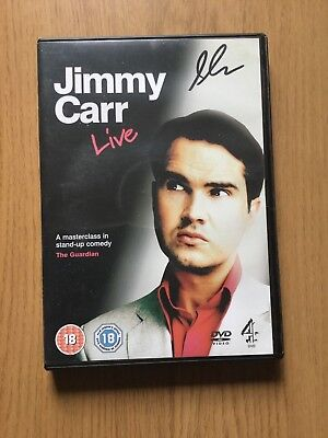 """Signed Jimmy Carr Dvd """"LIVE"""""""