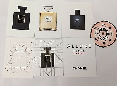 Chanel Chance Perfume Promotional Blotter Cards x 7