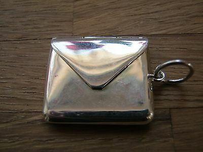 Beautiful Victorian Style Sterling Silver Envelope Stamp Case Holder