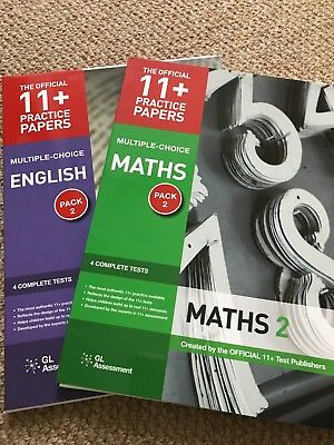 11 plus multiple-choice English & maths pack 2 GL asessment