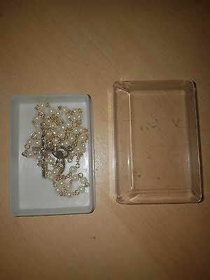 Rosary Beads (Pearl Effect Gold Plated)