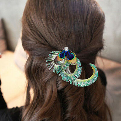 Beautiful Peacock Feather Fascinator Hair Clip Headband Party Headpiece Bridal