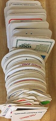 Huge Mixed Lot 100 Vintage European German Beer Cardboard Coasters