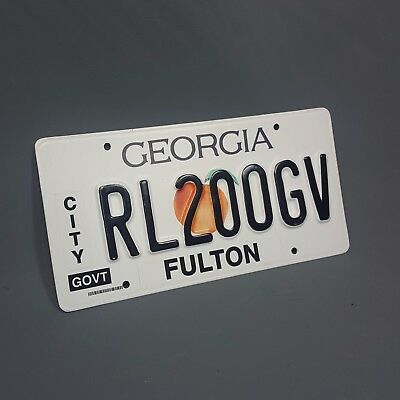 BABY DRIVER - Production Used Police Car License Plate - Georgia