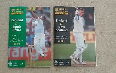 England v New Zealand and South Africa Programme Test 1994