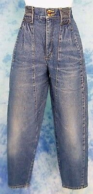 ViNTAGE 80s GAP DENiM HiGH WAiSTED LOOSE FiT ANKLE TAPERED LEG MOM JEANS 28/27