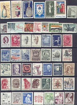 114 SWEDEN USED COLLECTION  to 1983 with Higher Values - see 3 SCANS
