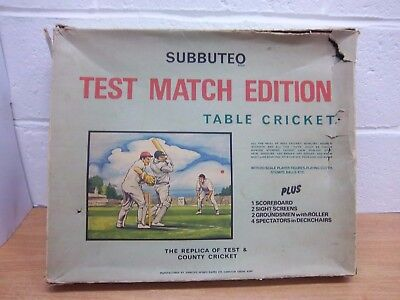 Subbuteo Test Match Edition table cricket