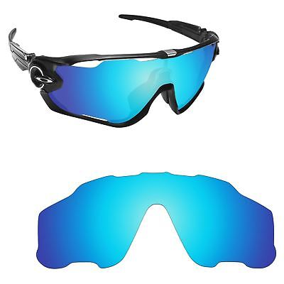 Newest Replacement Lenses for-Oakley Jawbreaker Ice Blue Mirror Polarized