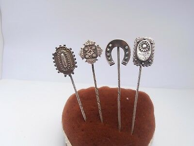 Good Large Antique Victorian Silver Aesthetic Movement Stick Pins