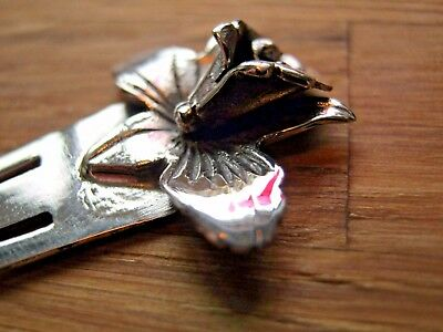 A Beautiful Antique Style Solid Silver  Flower - Lily Bookmark