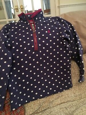 Joules Spotty Navy And White Top Age 5-6 Years