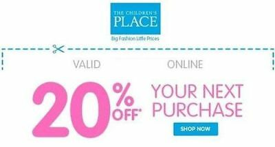 Children's Place 20% off discount – EXP 10/31/2017 – Online ONLY!