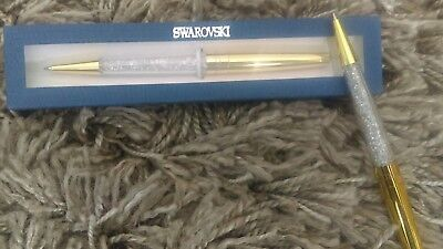 Swarovski Crystal Pen - Gold - New with display box 2017