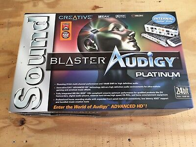 Brand New In Box Sounds Blaster Audigy 2 Zs Platinum Pro Audio Card System