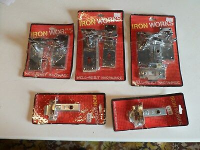 WHOLESALE JOB LOT of 5x Brand New Chrome Door Handle Packs