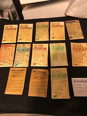Ho Scale Trains Misc. Magnetic Couplers 13 Packages. Lot# 3