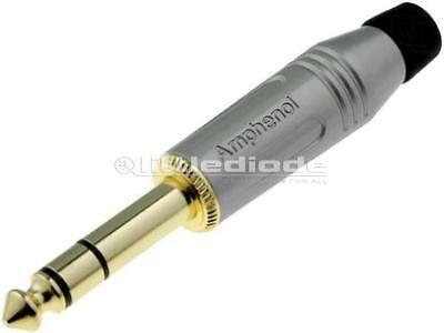 ACPS-GN-AU Plug Jack 635mm male stereo straight for cable soldering x1 pieces