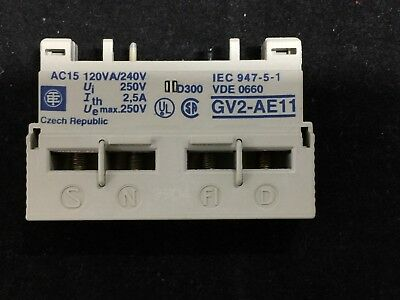 New Telemecanique Auxiliary Contact 2.5Amp Pn# Gv2-Ae11