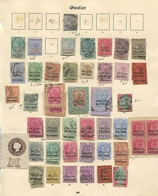India Good early Gwalior collection