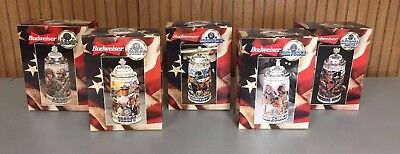 Budweiser Steins, Set of 5 Honoring Tradition and Courage Series