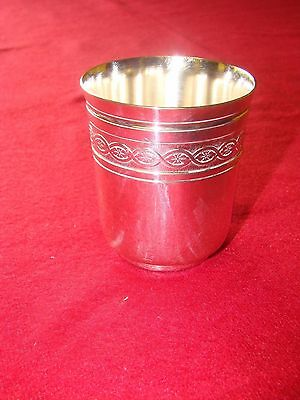 Christofle France Silver Plated Beaker Tumbler Toasting Christening Hunting