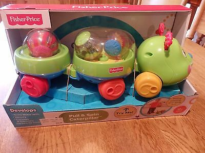 "New! ""fisher-Price"" Pull & Spin Caterpillar Ages 12 Months & Up"