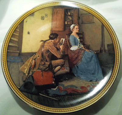 """Knowles, Norman Rockwell, Rockwell's Colonials, """"Portrait for a Bridegroom"""" COA"""