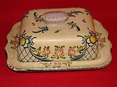 Antique Butter Dish Ceramic German George Chief / Earthenware