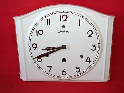 Antique Wall Clock Junghans Art Deco Earthenware / Pendulum Old Clock