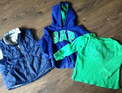 Boys GAP Autumn  Bundle Age 2-3, GILLET, top and jumper set BLUE and GREEN